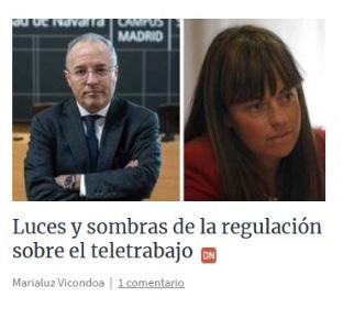 La regulación del teletrabajo. Mi entrevista con el Diario de Navarra